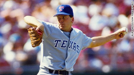 Pitcher John Barfield in action against the Toronto Blue Jays in 1991.