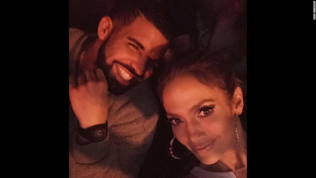 "Performer Jennifer Lopez takes a selfie with rapper Drake at her ""All I Have"" concert residency in Las Vegas. ""Look who rolled up to my show tonight to say hi!!,"" Lopez <a href=""https://www.instagram.com/p/BN36Fz_gVxN/"" target=""_blank"">said on Instagram</a> on Sunday, December 11."