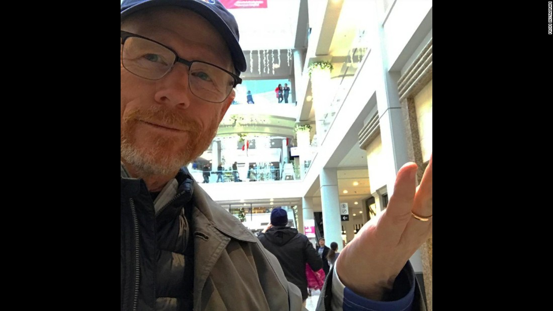 """Guess who procrastinated on the gift buying....again?"" actor Ron Howard <a href=""https://www.instagram.com/p/BOaI9DuhcX3/"" target=""_blank"">said on Instagram</a> on Saturday, December 24. ""But hey, I've learned to love the hustle-bustle Happy Holidays, all."""