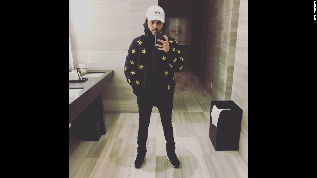 "Singer The Weeknd posted <a href=""https://www.instagram.com/p/BNft6lqBGOa/"" target=""_blank"">this selfie on Instagram</a> on Thursday, December 1."