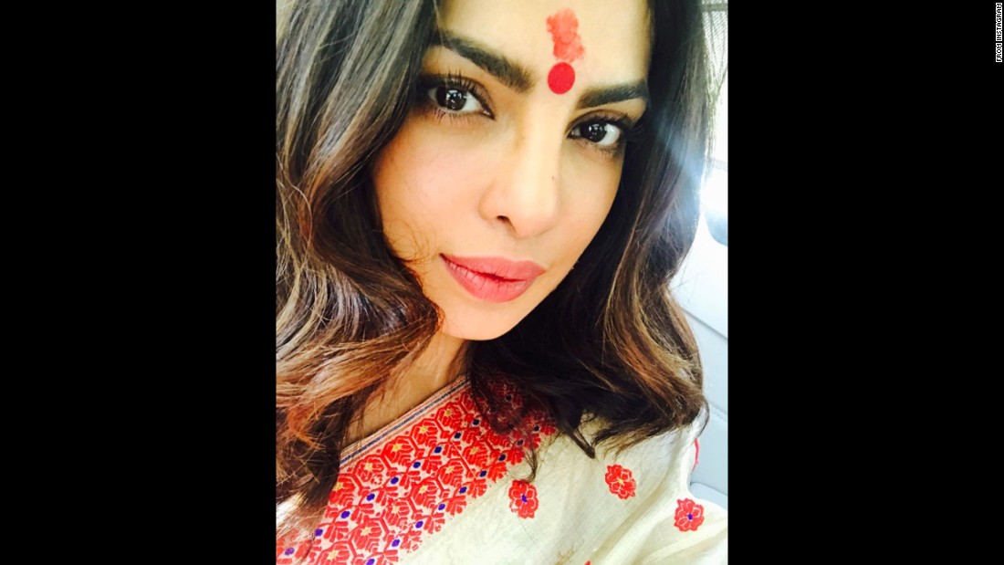 "Priyanka Chopra posted <a href=""https://www.instagram.com/p/BOZHxY2j6wy/"" target=""_blank"">this Instagram selfie</a> on Saturday, December 24. The actress included the caption: ""Magical visit at Kamakhya temple in Guwahati...something so powerful in belief.......#DiscoveringAssam."""