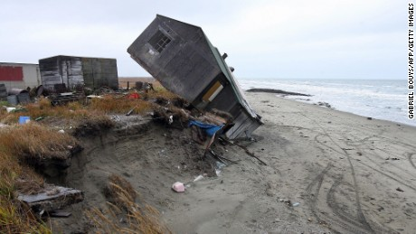 In September 2006, a house fell off the coast in Shishmaref, Alaska. The island village is thawing.