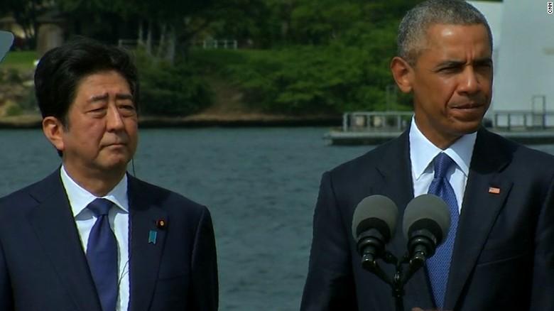 barack obama shinzo abe pearl harbor remarks