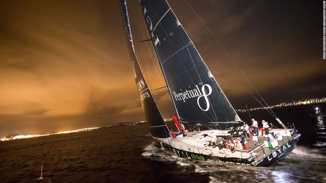 Perpetual Loyal sails up the Derwent River in the early hours of Wednesday to clinch a record-breaking victory in the 2016 Rolex Sydney to Hobart race.