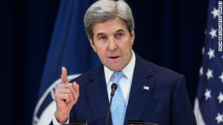 U.S. Secretary of State John Kerry delivers a speech on Middle East peace at The U.S. Department of State on December 28, 2016 in Washington, DC. Kerry spoke on the need for a two-state solution and defended the Obama administration's approach to Israel.
