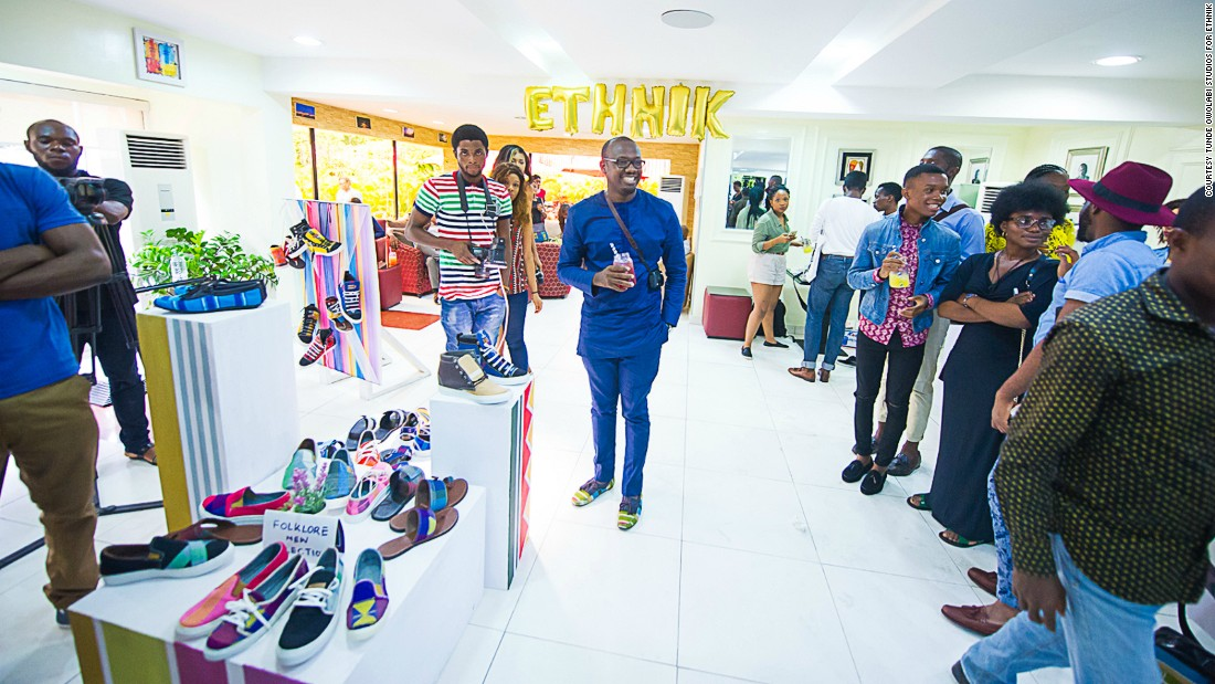 Founder Tunde Owolabi, pictured center, hopes to put his creations on the international runways in 2017.