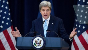 What did Kerry's parting shot on Middle East mean?