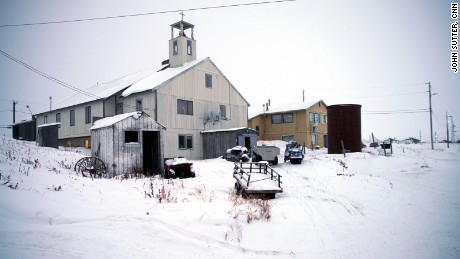 The local church in Shishmaref, Alaska.
