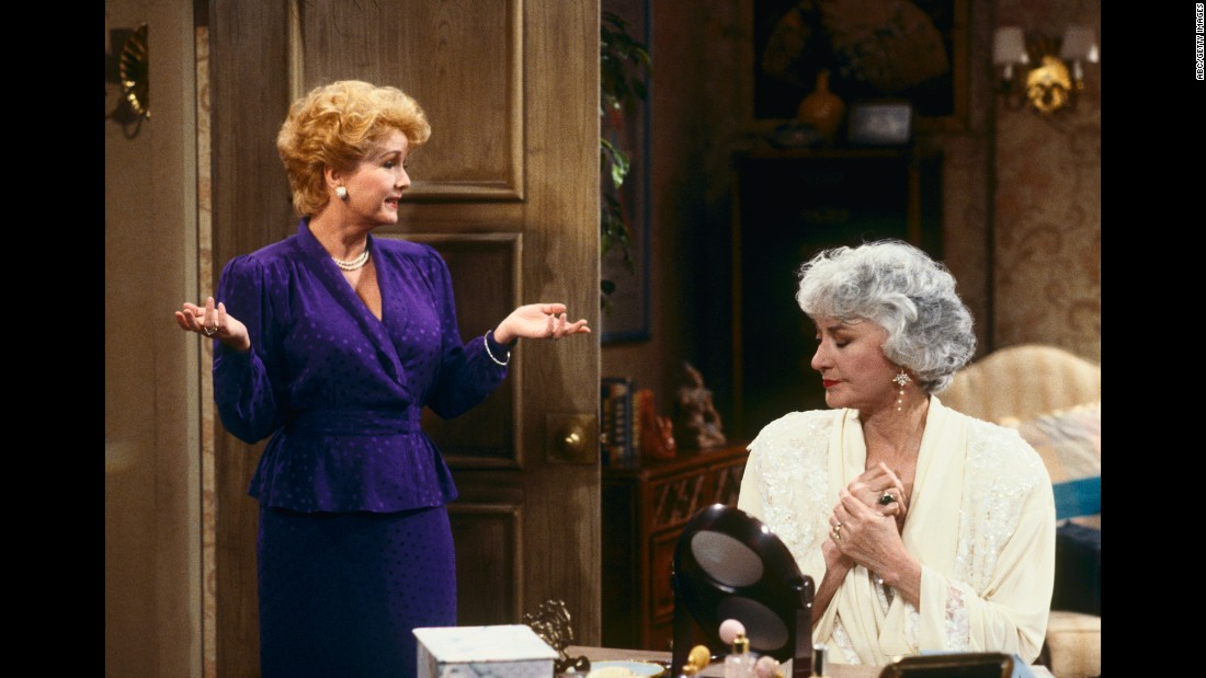 "Reynolds appears with Bea Arthur in an episode of ""The Golden Girls"" in 1991."