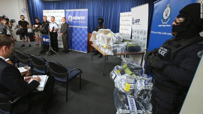 Officials brief the media in Sydney, Australia, Thursday, Dec. 29, 2016.