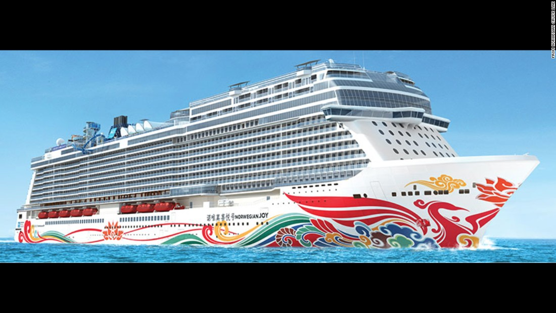 From ports in China, Norwegian Cruise Line's new Norwegian Joy will cater to Chinese travelers beginning in the summer of 2017.