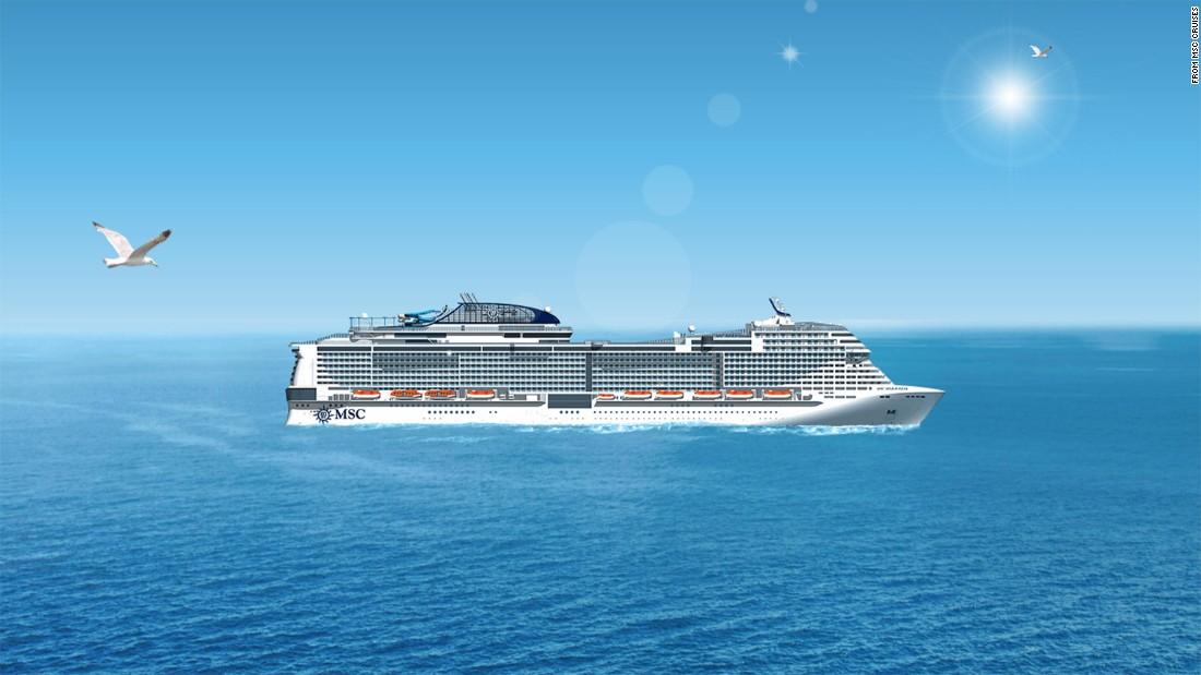 MSC Meraviglia will hold 4,500 double-occupancy passengers and a maximum of 5,700 fun-seekers.