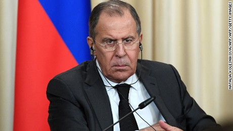 Russian Foreign Minister Sergei Lavrov attends a news conference in Moscow on December 20, 2016.   Russia, Iran and Turkey agreed  to guarantee Syria peace talks and backed expanding a ceasefire in the war-torn country, Russian foreign minister said after talks with counterparts. / AFP / Natalia KOLESNIKOVA        (Photo credit should read NATALIA KOLESNIKOVA/AFP/Getty Images)