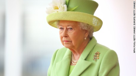 Queen Elizabeth II takes part in a ceremonial welcome in London for Colombia's President Juan Manuel Santos and his wife Maria Clemencia de Santos in November.
