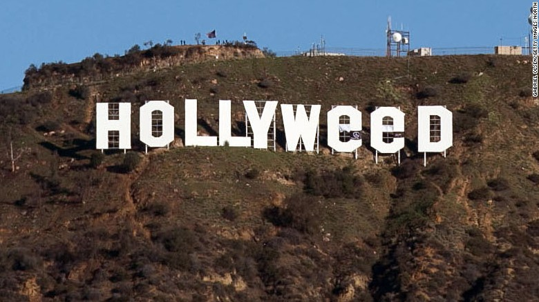 The famous Hollywood sign above Los Angeles was altered overnight on New Year's Eve.