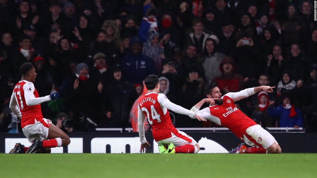 Victory over Crystal Palace sees Arsenal moved up to third in the Premier League table, nine points behind leaders Chelsea.