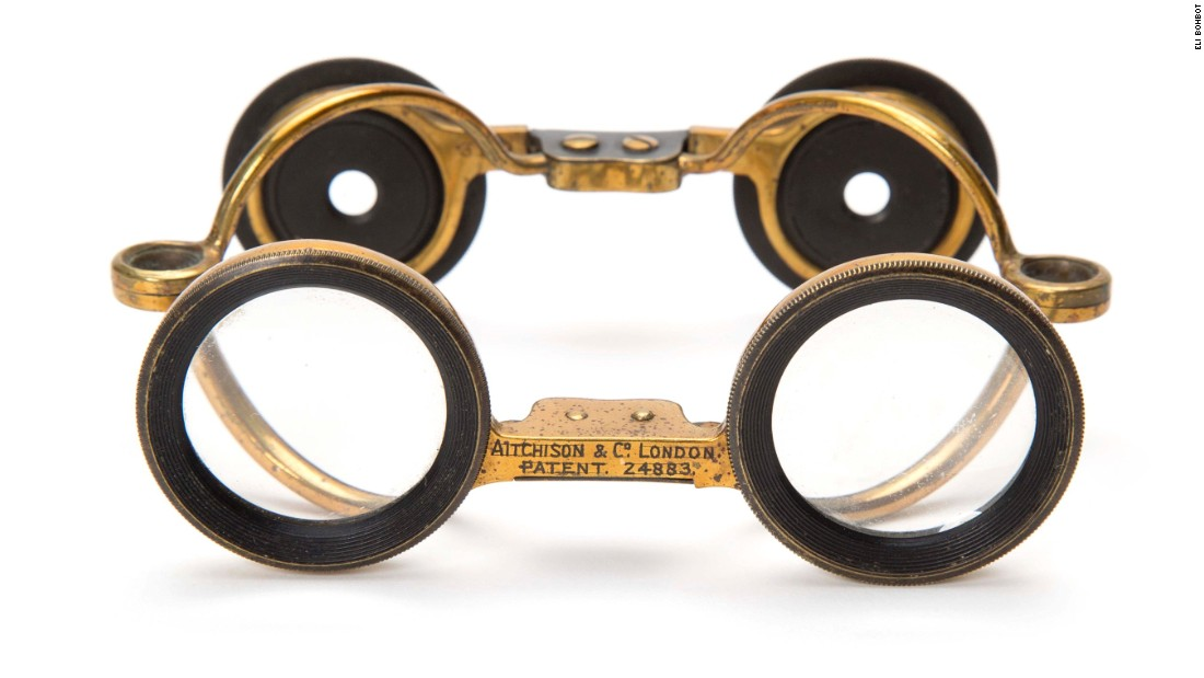 The collection includes a small case of lenses Samuel inherited from his grandmother, and a rare collection of glasses that his father designed for Pierre Cardin.