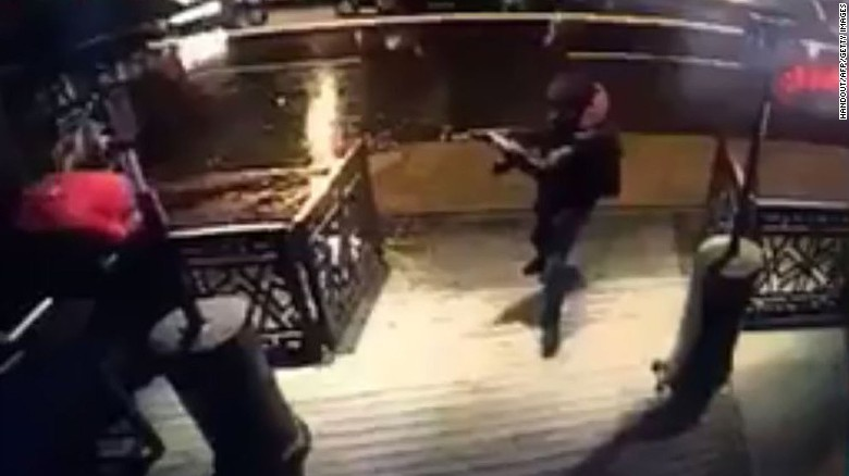 "This still photo, taken from surveillance footage and released on Monday, January 2, is believed to show the gunman responsible for carrying out a New Year's Day attack on the Reina nightclub in Istanbul. The popular nightclub was attacked shortly after midnight on Sunday, January 1. At least 39 people were killed and 69 were wounded, Turkey's Interior Minister said. Authorities are still <a data-cke-saved-href=""http://www.cnn.com/2017/01/02/europe/turkey-nightclub-attack/index.html"" href=""http://www.cnn.com/2017/01/02/europe/turkey-nightclub-attack/index.html"" target=""_blank"">searching for the attacker.</a>"