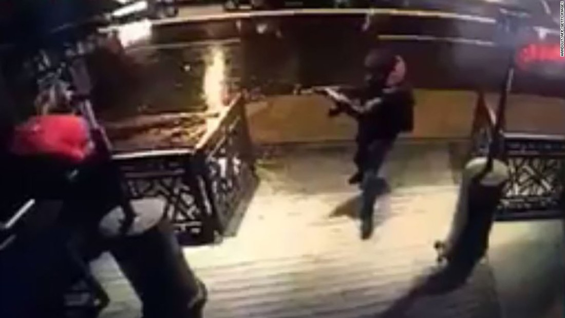 "This still photo, taken from surveillance footage and released on Monday, January 2, is believed to show the gunman responsible for carrying out a New Year's Day attack on the Reina nightclub in Istanbul. The popular nightclub was attacked shortly after midnight on Sunday, January 1. At least 39 people were killed and 69 were wounded, Turkey's Interior Minister said. Authorities are still <a href=""http://www.cnn.com/2017/01/02/europe/turkey-nightclub-attack/index.html"" target=""_blank"">searching for the attacker.</a>"