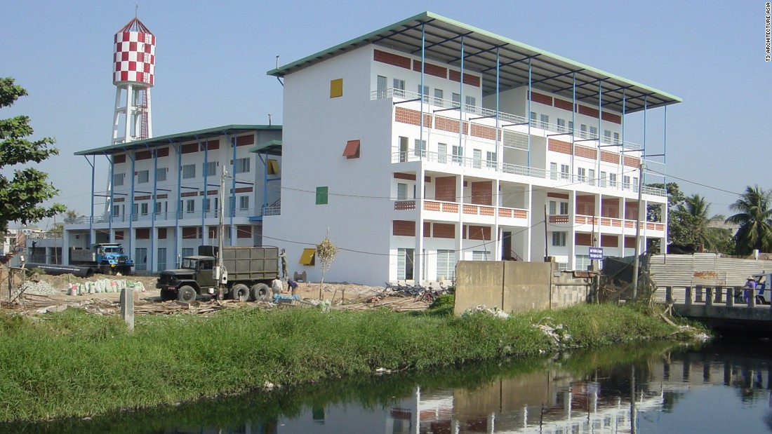 This community housing project in Ho Chi Minh City provides naturally ventilated rooms and and sun protection to help residents save money on energy costs.