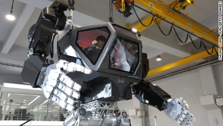 "GUNPO, SOUTH KOREA - DECEMBER 27:  Testing South Korea's manned walking robot ""Method-2"" projects by Korea Future Technology on December 27, 2016 in Gunpo, South Korea. Seoul-based robotics company Korea Future Technology has built a robot named Method-2, which can be controlled by a human pilot by using arm gestures.  (Photo by Chung Sung-Jun/Getty Images)"
