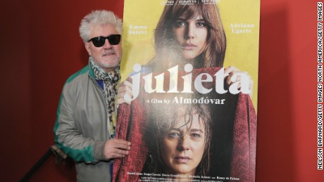 "NEW YORK, NY - NOVEMBER 30:  Director Pedro Almodovar attends a screening of Sony Pictures Classics' ""Julieta"" hosted by The Cinema Society, Avion and GQ at Landmark Sunshine Cinema on November 30, 2016 in New York City.  (Photo by Neilson Barnard/Getty Images)"