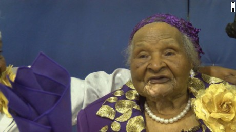 Woman celebrates 100 years on New Year's Day