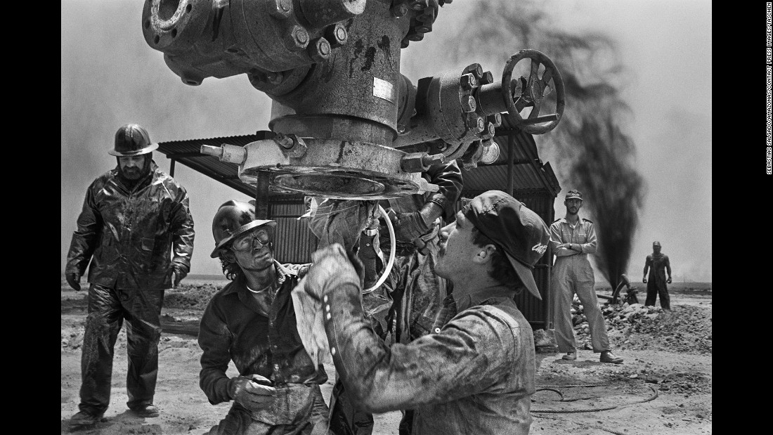 "Many of the wellheads had to be repaired or replaced. ""It was a bit like trying to put a new faucet on a broken water pipe -- without turning off the water,"" Salgado wrote in his book."