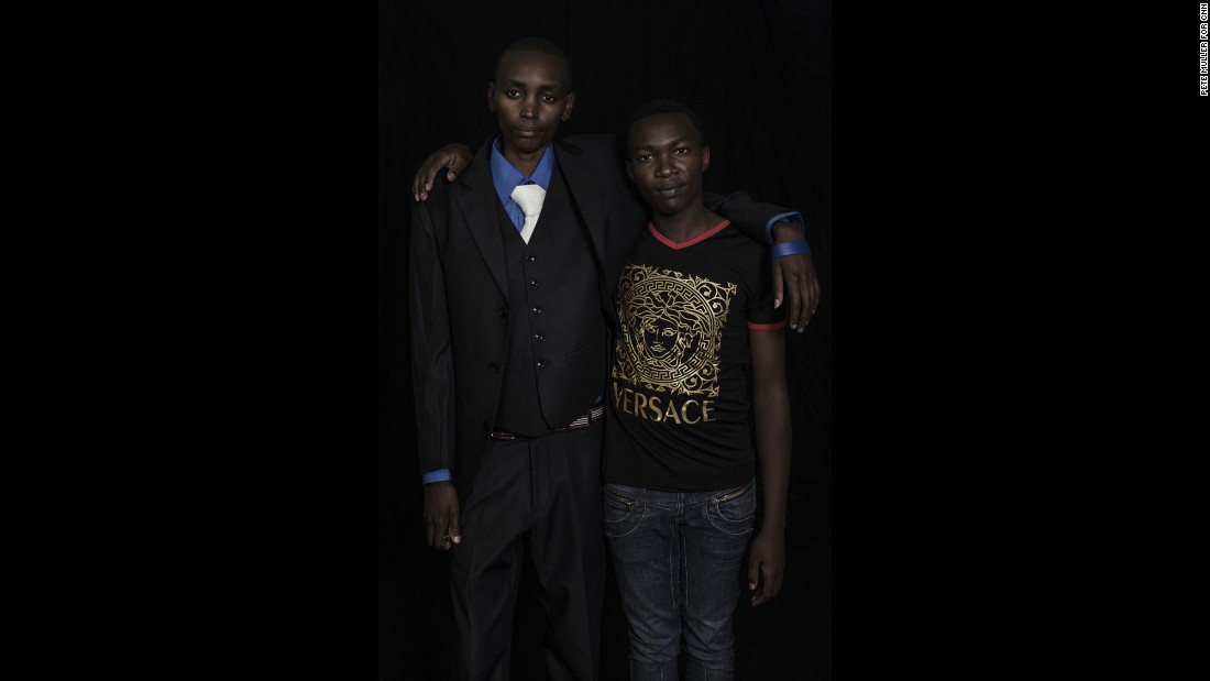 "Ryan Muiruri (left) and John Karanja (right), are both intersex men and activists in Kenya, a country with a strong Christian population. ""I could find some pastors talking to me [and they'd say], 'God had a reason to create you as a girl,'"" Ryan says. ""But I was not comfortable. I was not a girl as they knew I was."""