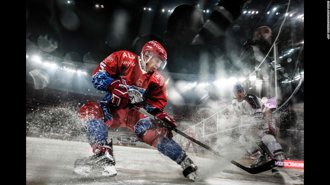 The NHL isn't the only hockey league staging outdoor games over the holidays. French teams Lyon and Grenoble played Friday, December 30, at Parc Olympique Lyonnais, the home stadium of soccer club Olympique Lyonnais. Grenoble won 5-2.