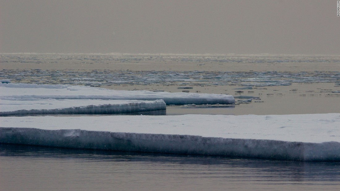 <strong>Melting sea ice:</strong> As temperatures rise and the sea ice weakens, the sea ice eventually breaks up into ice floes and gets carried north where it eventually melts. During January or February the ice in front of McMurdo Station can break up and disappear in less than a day.