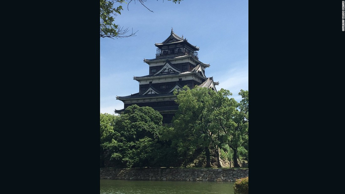 "On Instagram, Hiromi Matsue posted this photo of Hiroshima Castle in Japan. Matsue explains that the castle was destroyed by the atomic bomb in 1945, but has since been rebuilt. ""I think this view should be protected and never be destroyed again,"" says Matsue."