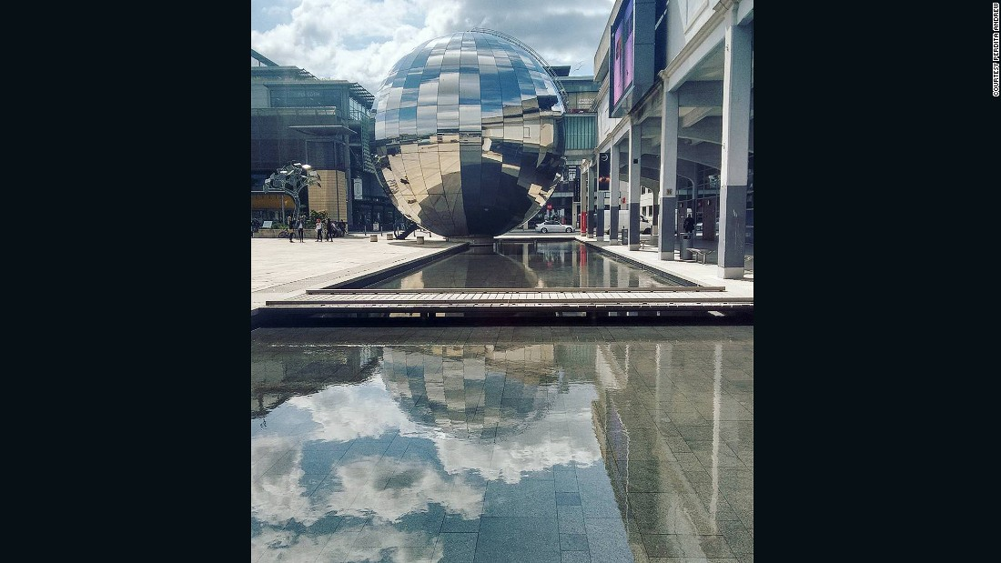 "On Instagram, Perdita Andrew submitted her image of Millenium Square in Bristol City Centre. ""Millenium Square is a light, open space by the harborside that encourages sustainable energy and resources,"" explains Andrew. ""It shows a modern, clean side to the city."""