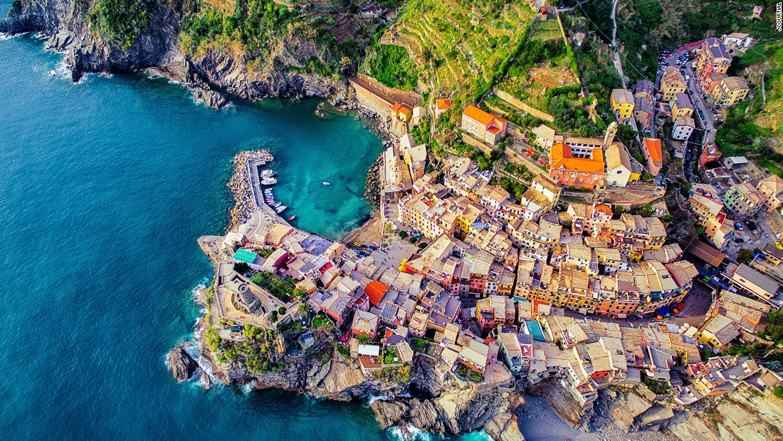 <strong>Vernazza, Cinque Terre, Italy: </strong>Another picture by Jerome Courtial (who also shot the lavender fields). This shows a sunset view of the seaside town Vernazza in Italy.