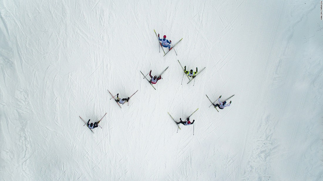 <strong>Ski race: </strong>This photo by Maksim Tarasov shows skiers crossing the snows of Adzhigardak mountain, near the the town of Asha in the Urals.
