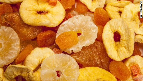 Dried fruits, including prunes, dried apricots and dried cranberries can provide a tasty nutrient-rich snack, especially when they're not coated with sugar and portions are kept in check. But if you are sensitive to sulfites or have asthma, dried fruit can be problematic unless you choose organic brands, which donÕt contain the preservative sulfur dioxide.