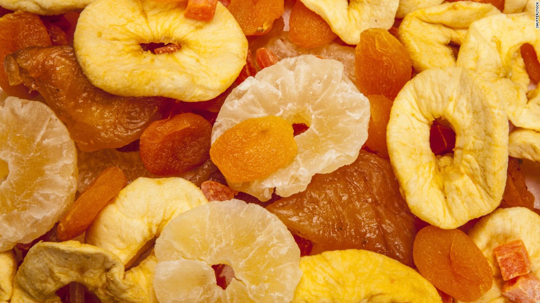 Dried fruits, including prunes, dried apricots and dried cranberries, can provide a tasty nutrient-rich snack, especially when they're not coated with sugar and portions are kept in check. But if you are sensitive to sulfites or have asthma, dried fruit can be problematic unless you choose organic brands, which don't contain the preservative sulfur dioxide.