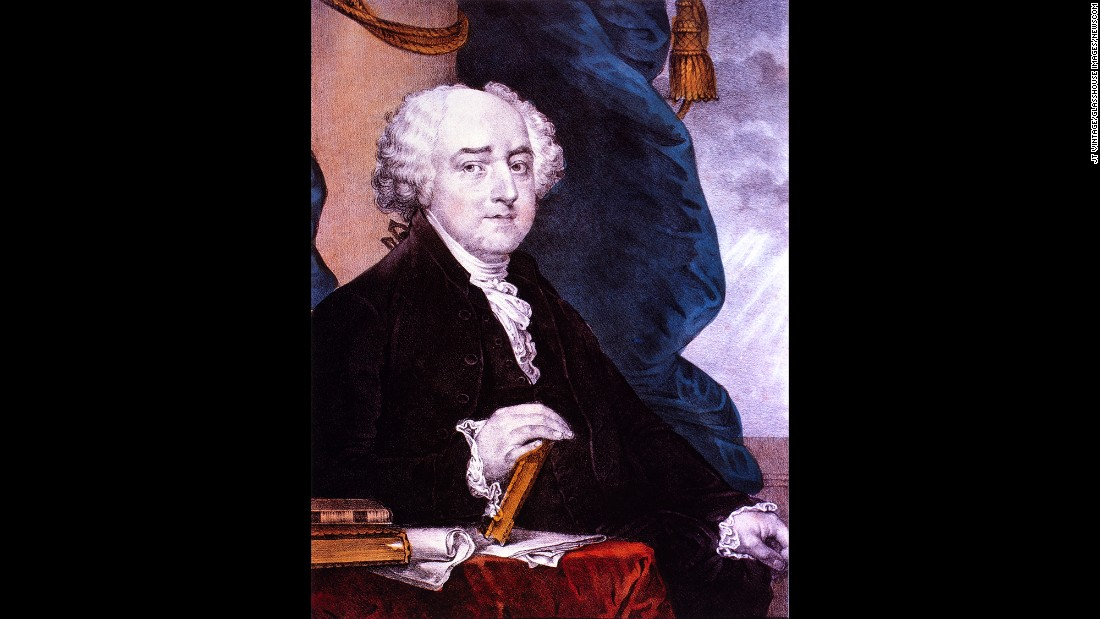John Adams, the second US president, took the oath of office at the House Chamber Congress Hall in Philadelphia.