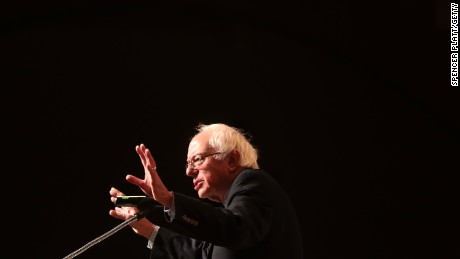 Bernie Sanders speaks about his 2016 campaign at The Cooper Union on December 13, 2016, in New York City.