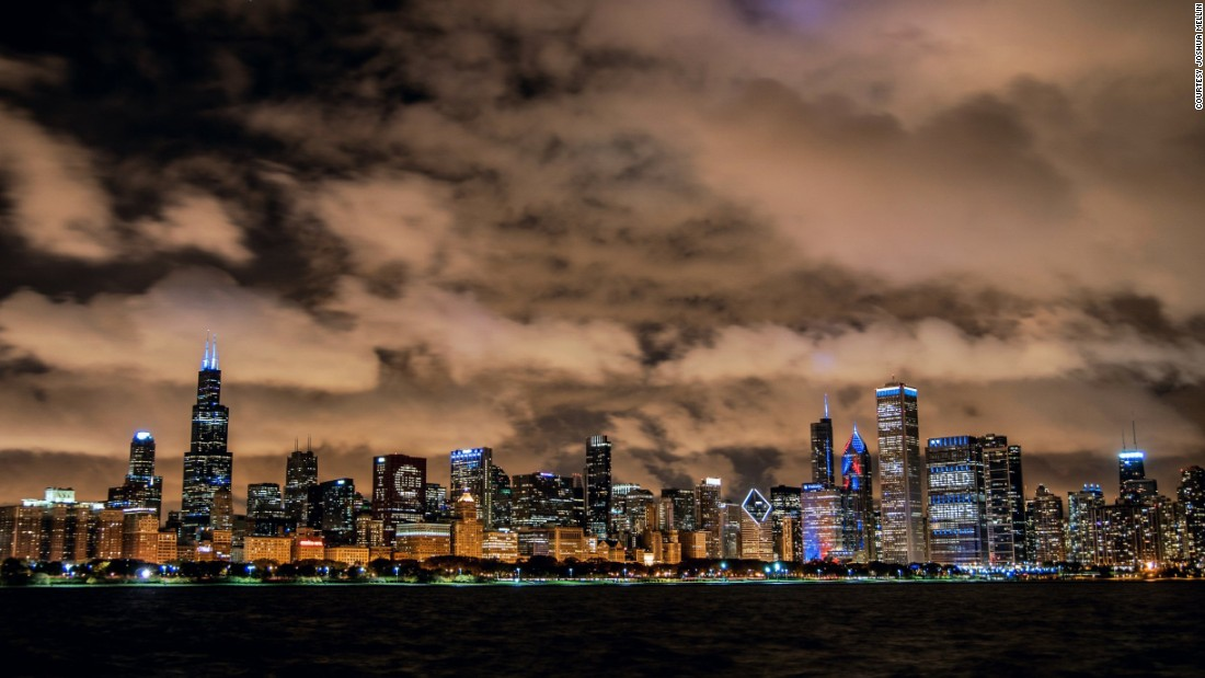 "On Twitter, Joshua Mellin posted his image of the Chicago skyline: ""It's the most complete view of the city I was born in and grew up in. It always remains a beautiful vantage."""