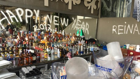 The Reina nightclub in Istanbul was set up for joyous New Year celebrations.