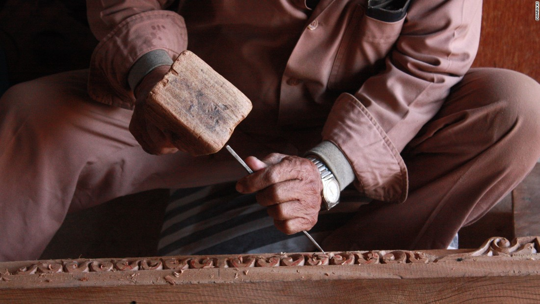 The hotel's wood workshop  teaches the ancient skill of Newari crafting.