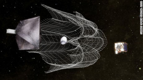 The RemoveDEBRIS mission aims to tests a net for catching rogue satellites.