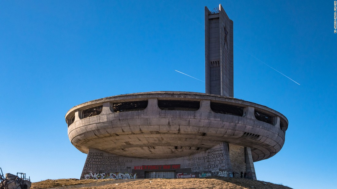 "<strong>The UFO: </strong>The Buzludzha Monument is better known as ""Bulgaria's UFO,"" for obvious reasons."