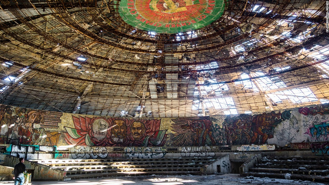 <strong>The auditorium: </strong>The ceiling has partially collapsed over the years, making it potentially dangerous to explore the interior.<br />