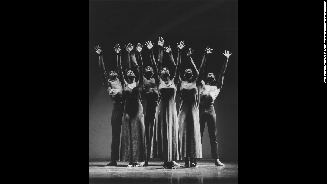 "Ailey and other dancers perform Ailey's ""Revelations"" in 1961. ""This dance has been done more than any other dance ever, in anybody's repertory, and there's a reason for it and there's a reason why people request it,"" said Judith Jamison, who joined the Alvin Ailey American Dance Theater as a dancer in 1965 and now serves as artistic director emerita. ""It works because it speaks no matter where we do it around the world. Everybody understands what it is: Trial, tribulation, triumph. Trial, tribulation, triumph. Trial, tribulation, triumph. That's saying it very simply, but it's about a people rising and celebrating their great faith. But about who they are as people, and then rising, lifting themselves up. And as they do that, it lifts the audience."""
