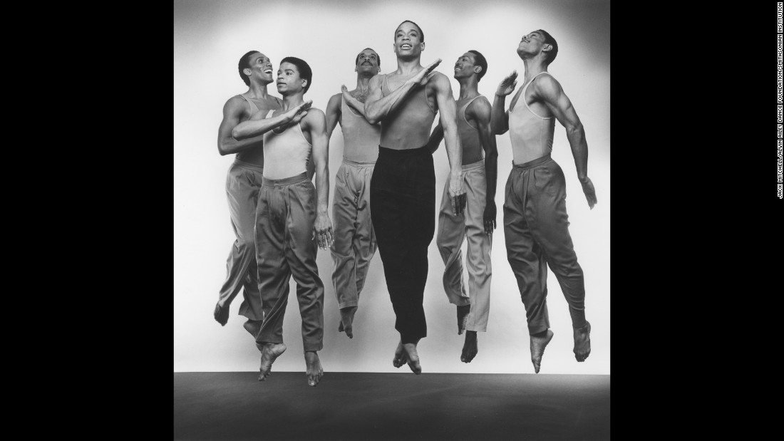 "Members of Ailey's dance company perform Bill T. Jones' ""Fever Swamp"" in 1983."