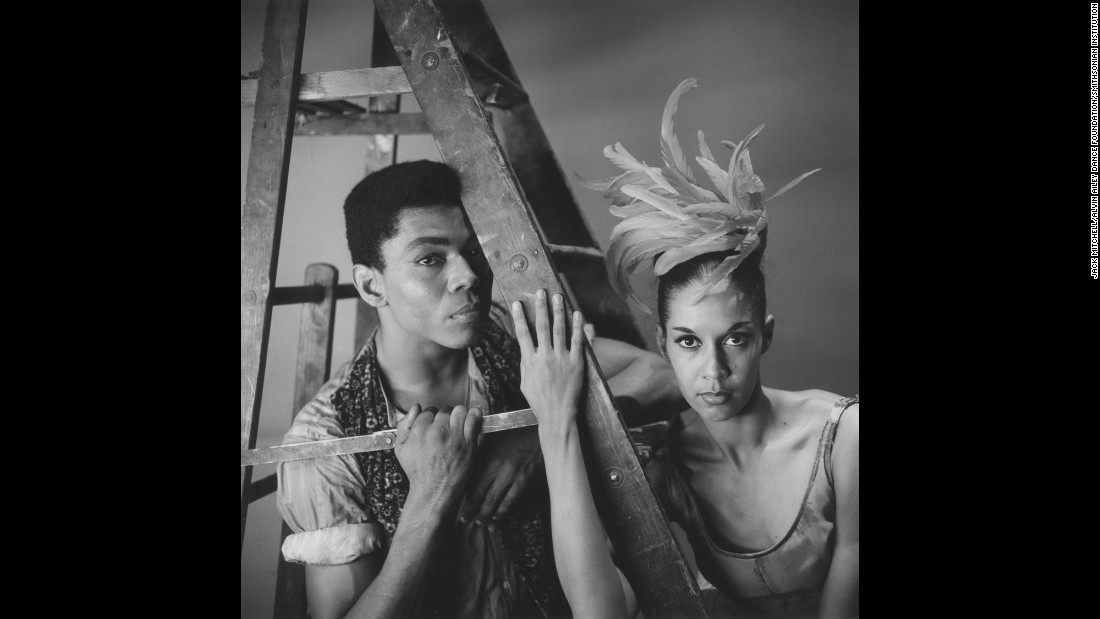 "Ailey and Carmen de Lavallade in ""Roots of the Blues,"" which Ailey choreographed in 1961. ""I'm not a black choreographer,"" he once said. ""I'm not a black anything. First of all I'm a human being. And I really don't like being put into a box."""