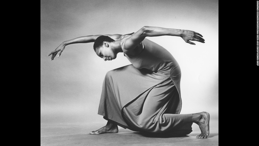 "Jamison, seen here in ""Revelations,"" first saw Ailey perform in 1963 while she was a student in Philadelphia. There were only eight members in the dance company back then. ""He wanted to have the Alvin Ailey American Dance Theater be a magnet for everyone to come and study dance and have a residence, and it just happened to be that under my watch that we actually got a building to house that light,"" Jamison said."