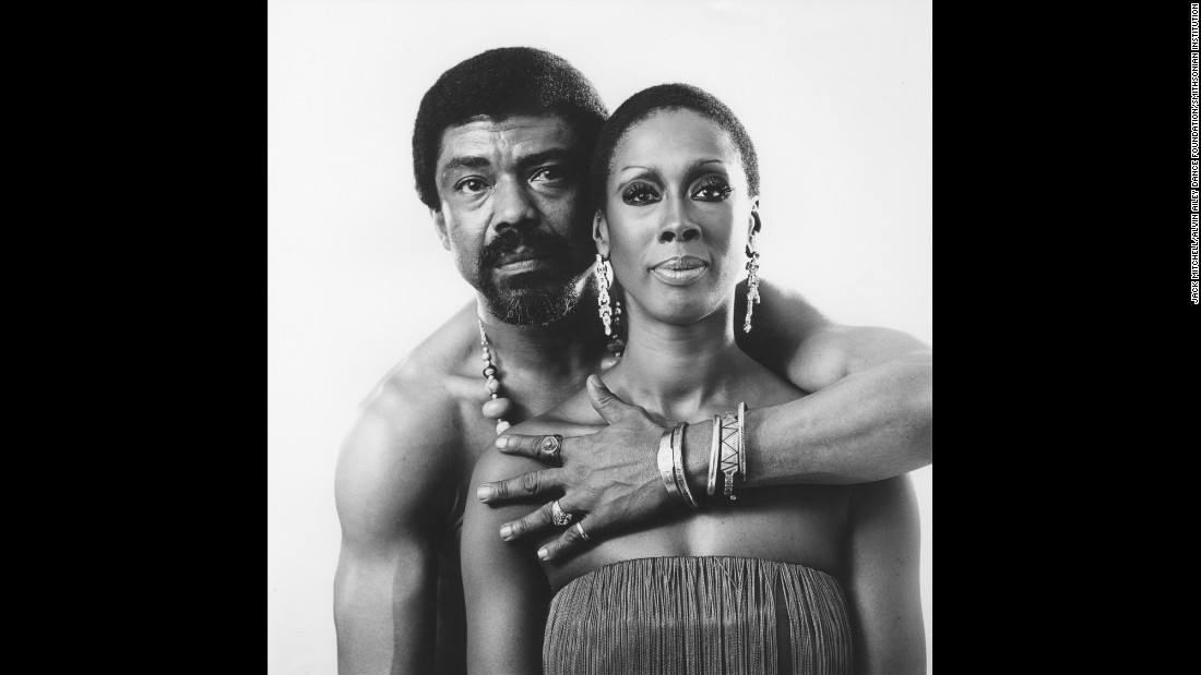 "Ailey and Jamison pose for a photograph. ""You knew you were standing in the presence of a marvelous human being,"" Jamison said of Ailey. ""One who happened to be richly talented and that cared about you and that had a major purpose."""